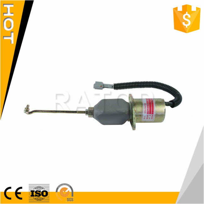 Excavator electric parts <strong>Diesel</strong> Engine Stop Solenoid Valve SA-4014-12 32A87-05100,SA-4014-24 6CT 12V 32A87-059000