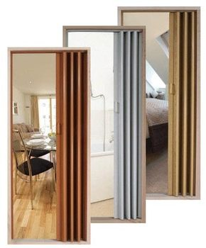 Interior Pvc Folding Doors Wooden Design/pvc Accordion Door