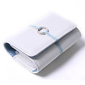 HDE Leather Digital Camera Case with Magnetic Closure and Wrist Strap for Sony Cybershot (White)