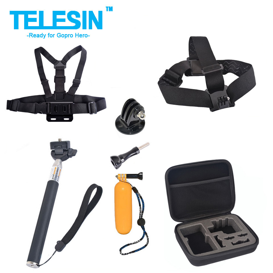 Screws+Adjustable Head/Chest Belt+Monopod Floaty+ Collection Box Camera