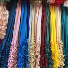 Wholesale Polyester 100% silk satin fabric lace for wedding M-PS040