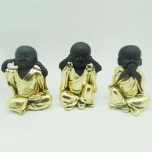 Gold <span class=keywords><strong>buddha</strong></span> <span class=keywords><strong>statue</strong></span> wohnkultur speer no evil hear no evil sehen keine bösen little <span class=keywords><strong>buddha</strong></span>