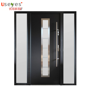 Manufacturer's low pice malaysia strong security door aluminum structure inside armored door entry solid wooden door design