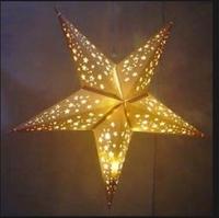 Holiday lighting string paper star lanterns Children's day decoration paper star lantern wholesale