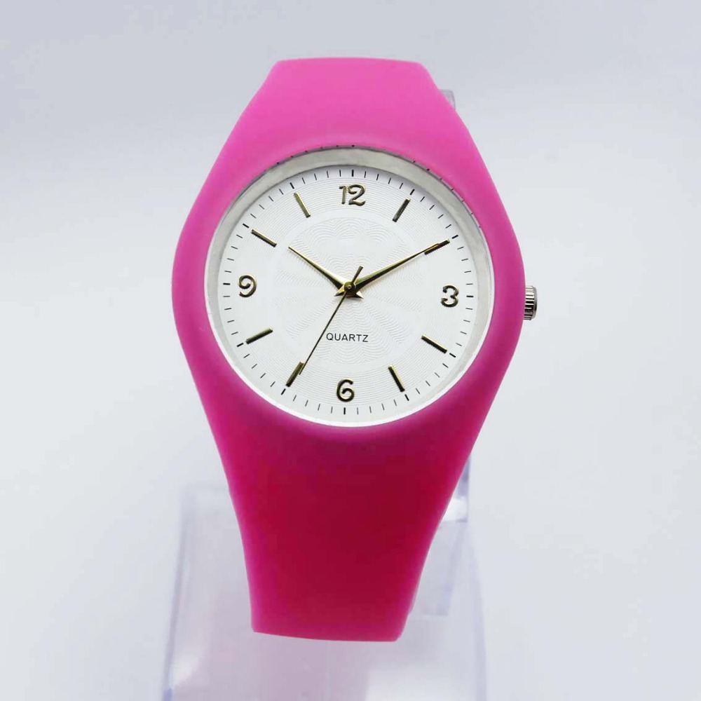 Sweet color candy watch silicone soft band watch for women