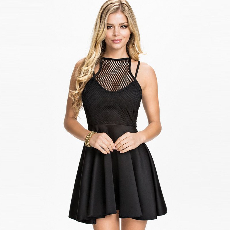 Get Quotations · R70034 Sleeveless fashion design womens dress hot sale  popular style solid black and white dress sexy 50881be52