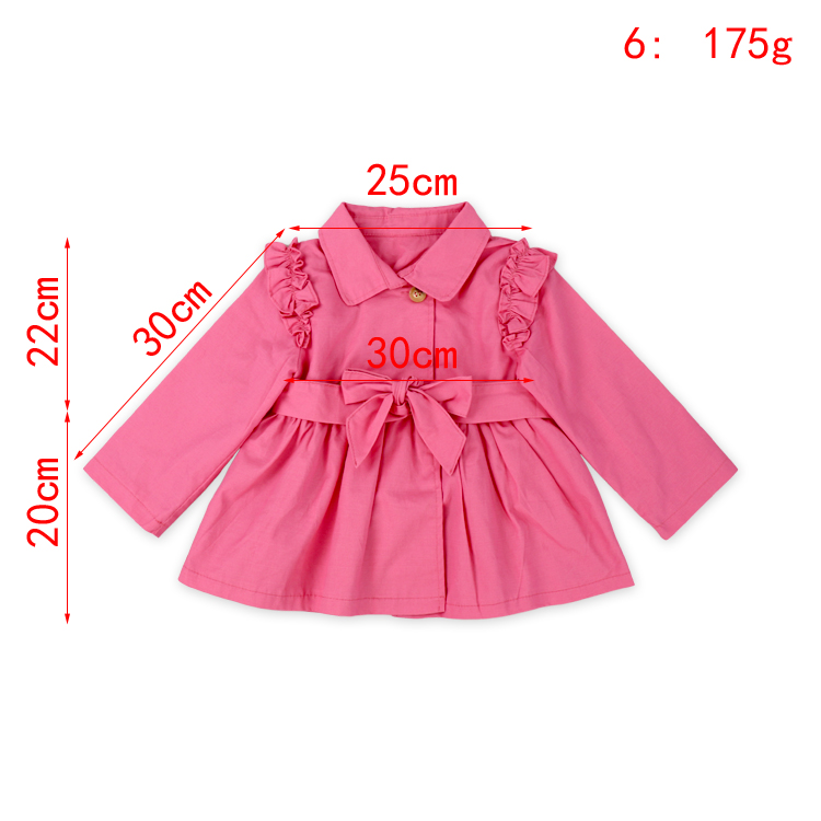 Children Winter Clothing warm fluffy top long sleeve with skirt part Baby Girl watermelon light weight Cotton Ruffle Trench Coat