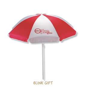 colorful rainbow promotional beach umbrella parts with carrying bag and sand anchor
