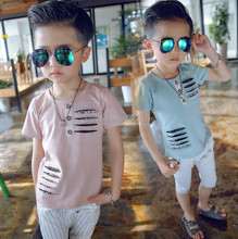Best popular boys t-shirt soft textile cotton blend plain t shirt casual fashion kids t-shirt