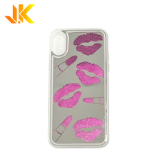 Luxe stijl liquid glitter case <span class=keywords><strong>telefoon</strong></span> voor iphone case glitter drijfzand <span class=keywords><strong>telefoon</strong></span> case lip print spiegel glans