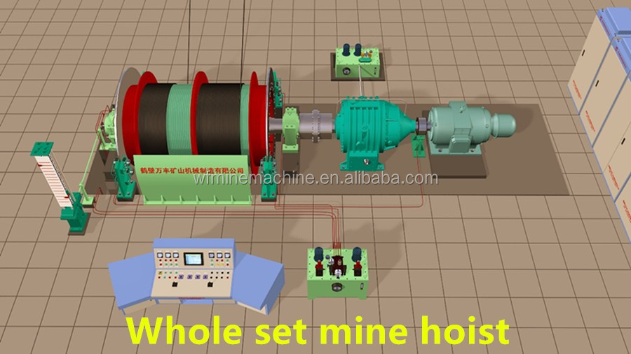 ma ka certified factory price mine hoist gemstone mining