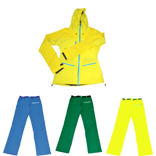 2017 Stylish womens 100% nylon Ski Wear Jacket with hoodie fashion raincoat
