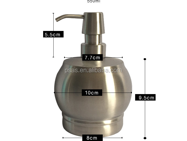 550ml stainless steel lotion bottle