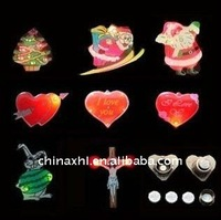 flashing badge led heart wedding apparel