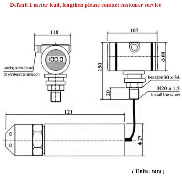 android zigbee water level sensor with led display wireless sensors for fuel level hpt604