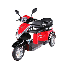 Double seat 1000w 60v electric passenger tricycle