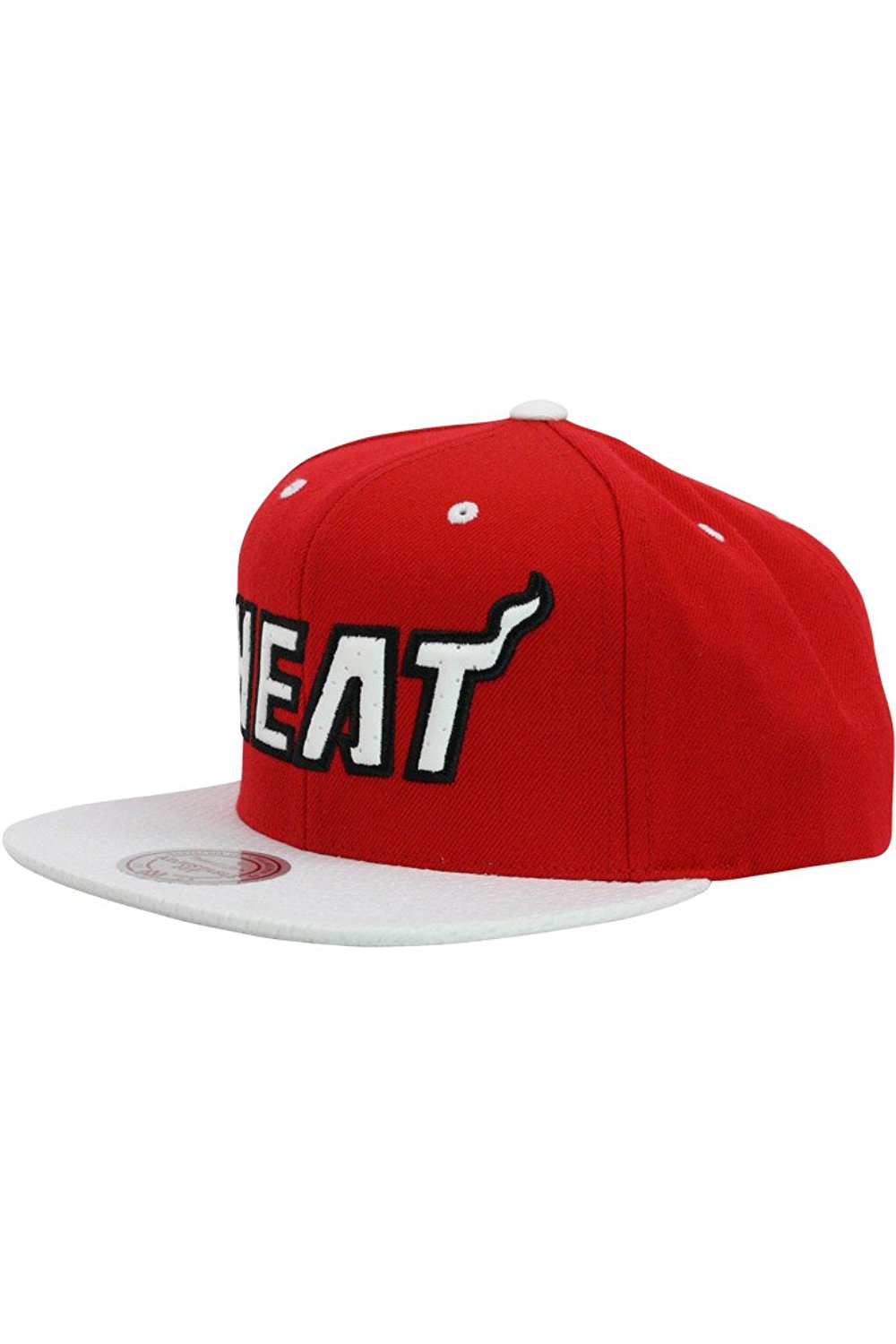 a6eeacbe2ab Get Quotations · Mitchell Ness Miami Heat Red Alert Structured Fit Snapback  Unisex   Va91Z Style  VA91Z-004