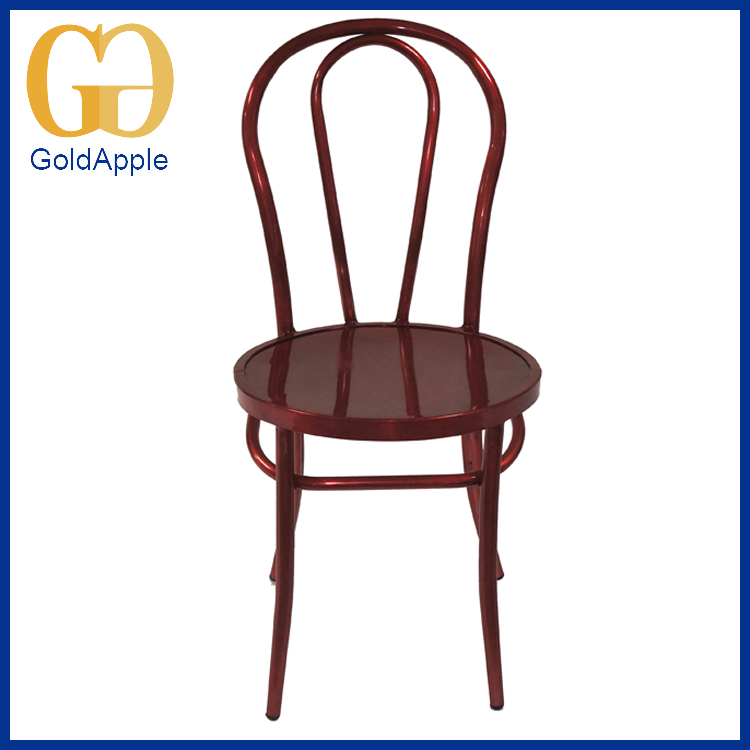 2016 Best-selling powder coating wine red dining metal bar chair