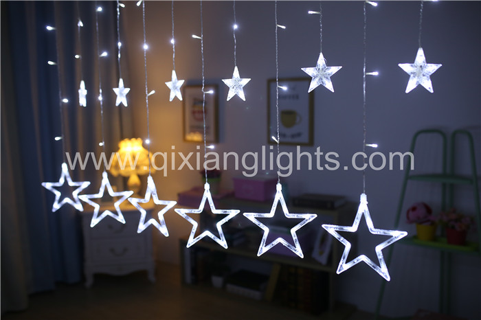 Christmas Indoor & Outdoor 220V 110V 138LED bulbs Star Icicle lights