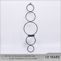 European Romantic Wall Mounted Iron Home Decoration Candle Holder
