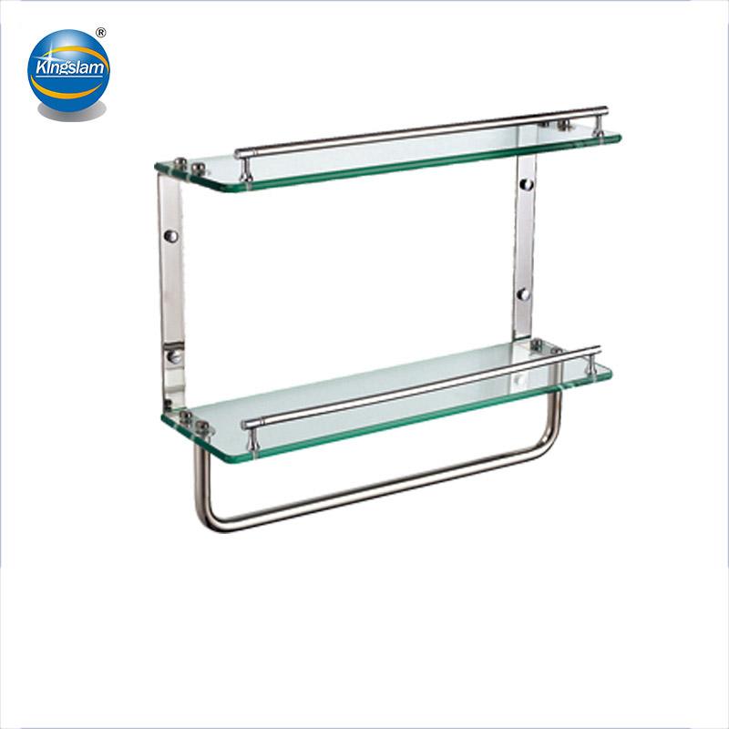 Free Sample Bathroom Double Glass Shelf For Bathroom Hardware Buy Bathroom Double Glass Shelfdecorative Double Glass Bathroom Shelvesglass Hanging