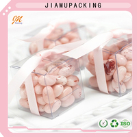 small customized shape craft plastic folding packaging box for weding candy