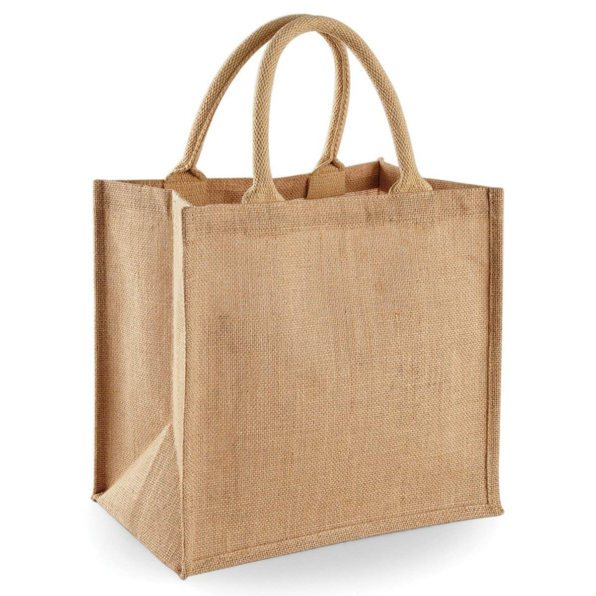 custom  promotional reusable Standard Size Recycle Eco tote bag jute shopping bag