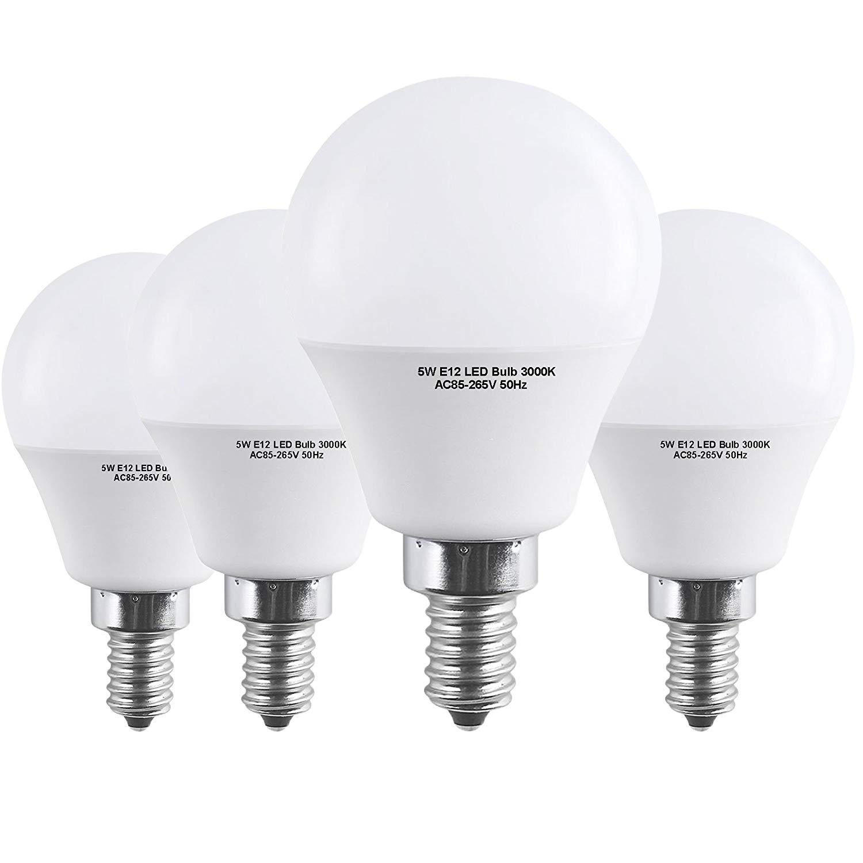 Get Quotations E12 Led Bulb 40 Watts Hengbo 5w Candelabra Warm White 3000k Decorative