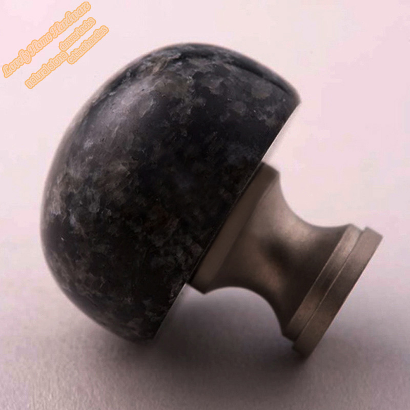 impala black granite cabinet knob and cupboard door knob small stone drawer knobs and handles. Black Bedroom Furniture Sets. Home Design Ideas