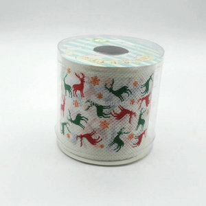 Christmas decoration printed toilet paper for restaurants