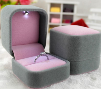 Wholesale Jewelry Gift Boxes Velvet Pink Color Led Light Jewelry Box Buy Jewelry Box Led Light Jewelry Box Made In China Product On Alibaba Com