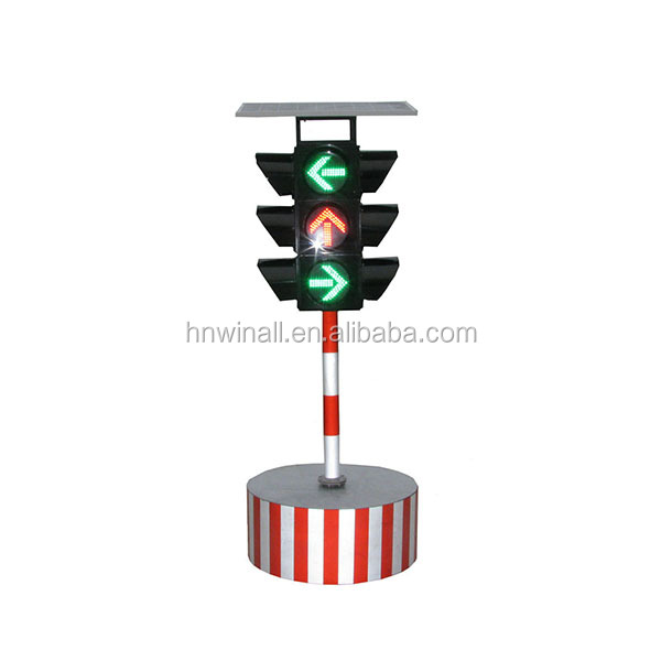 Cost-effective portable solar powered Led traffic warning light