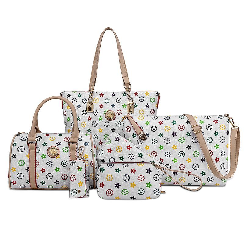 82eefee1d29f 6 Pcs set Women Messenger Bags Leather Handbags PU Leather Three-piece  Female Bag Shoulder Bags Women Bag Brand Fashion XGDS-IV – Smarter  Shopping