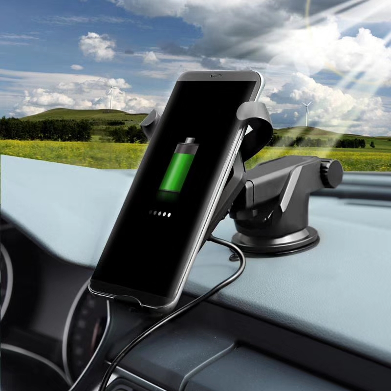 2018 hot Fully Automatic 10W Fast Qi Charging Phone Holder Mount Car Cup Wireless Charger фото