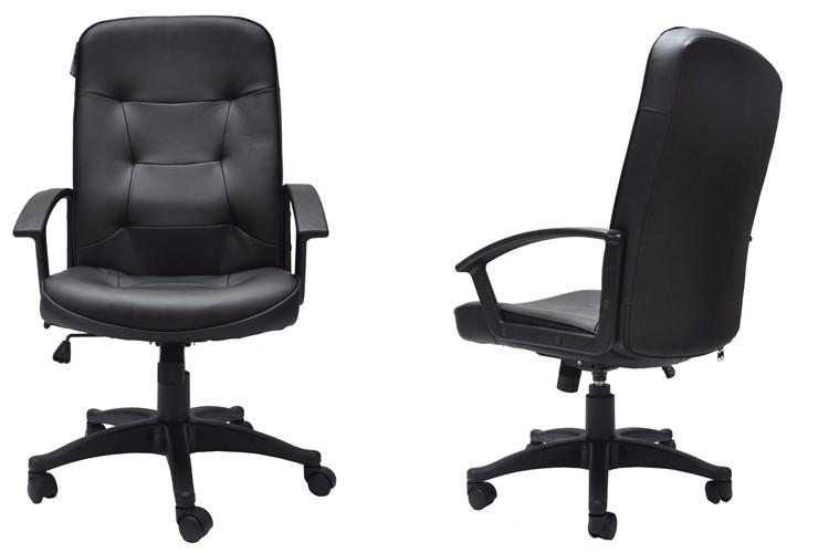 Sedie Da Ufficio In Pelle : Nero in pelle sedia da ufficio scrivania sedia da ufficio compito