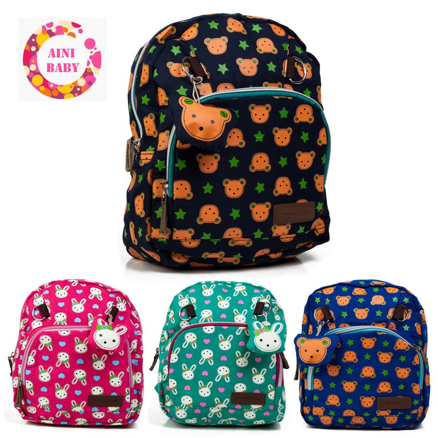 High Quality !! 2016 Cartoon Animals Kid Backpack Children School Bag For Boy Girl Baby School Backpack mochila escolar