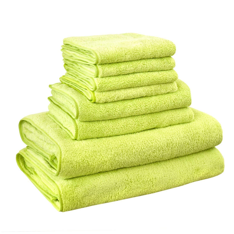 Get Quotations · Gouache 8pcs Microfiber Bath Towel Sets Softness Towel Set  Color 5 8 Pcs Towel Set