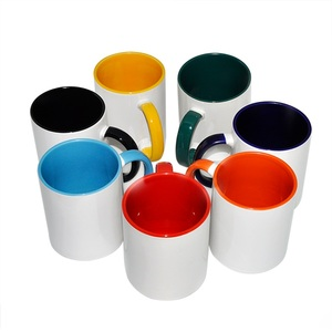 Fashion wholesale inner handle color mug best ceramic sublimation products suppliers