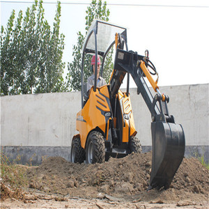 Gasoline engine 4 wheel drive Small Scale Backhoe Loader for Sale