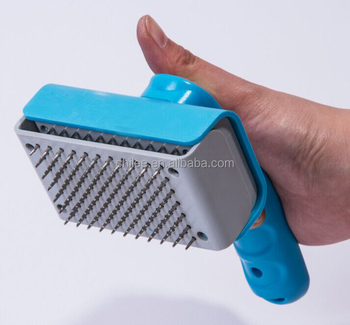 High Quality Self-clean Pet Grooming Brush with button