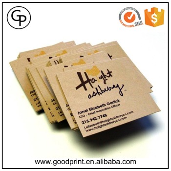 Foil stamping brown kraft paper business name cardcraft business foil stamping brown kraft paper business name card craft business card reheart Gallery