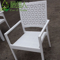 Value City Modern White Rattan Wicker Outdoor Garden Furniture Set 5 pieces Table and Chairs