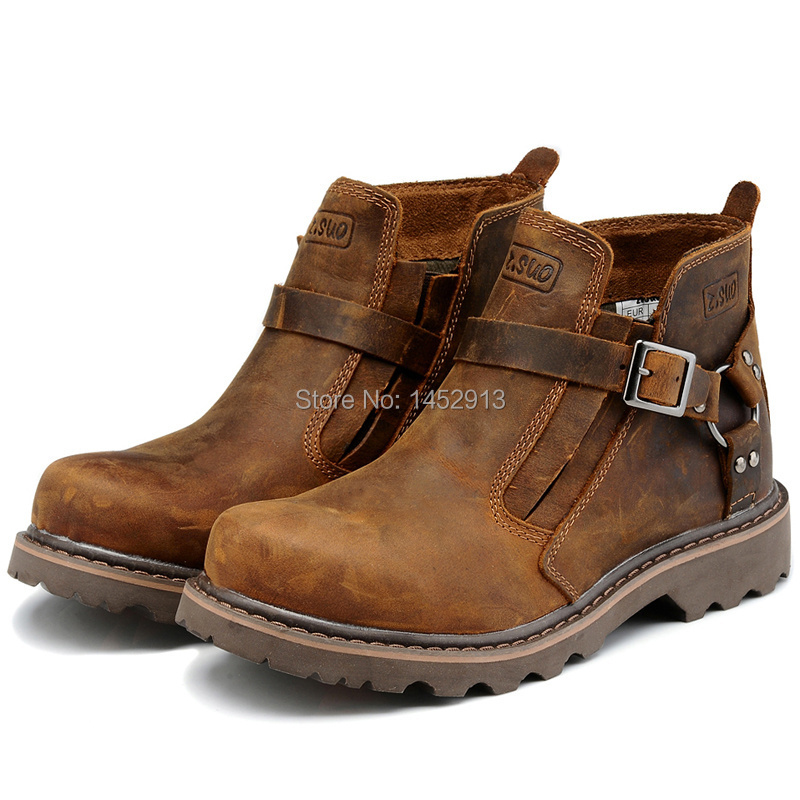 Leather Work Boots For Women Tsaa Heel