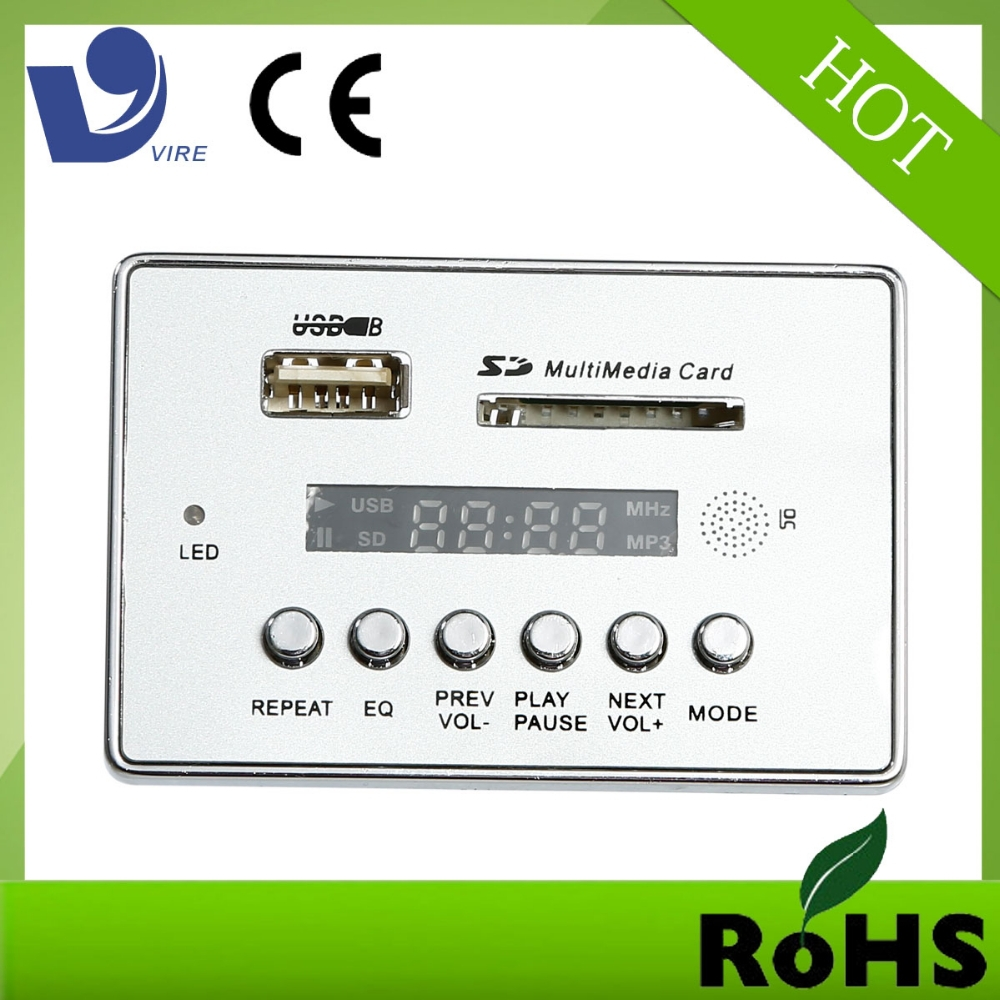 Car Kit MP3 Mucsic Player FM Radio Modulator With USB SD MMC Remote Control