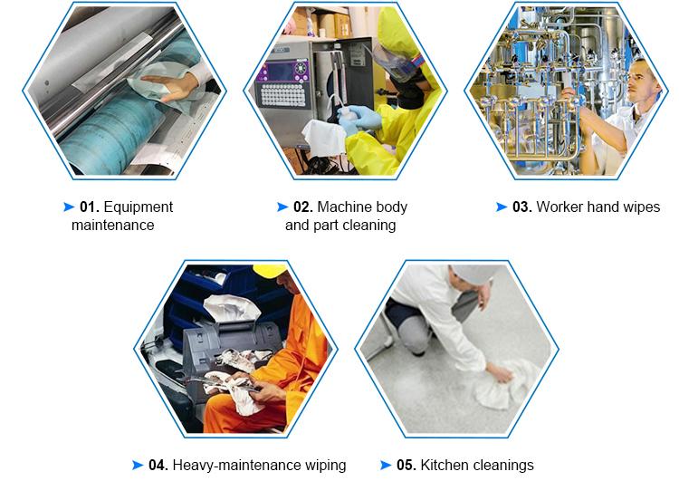 [Soonerclean] spunlace nonwoven औद्योगिक औद्योगिक सफाई के लिए मिटा