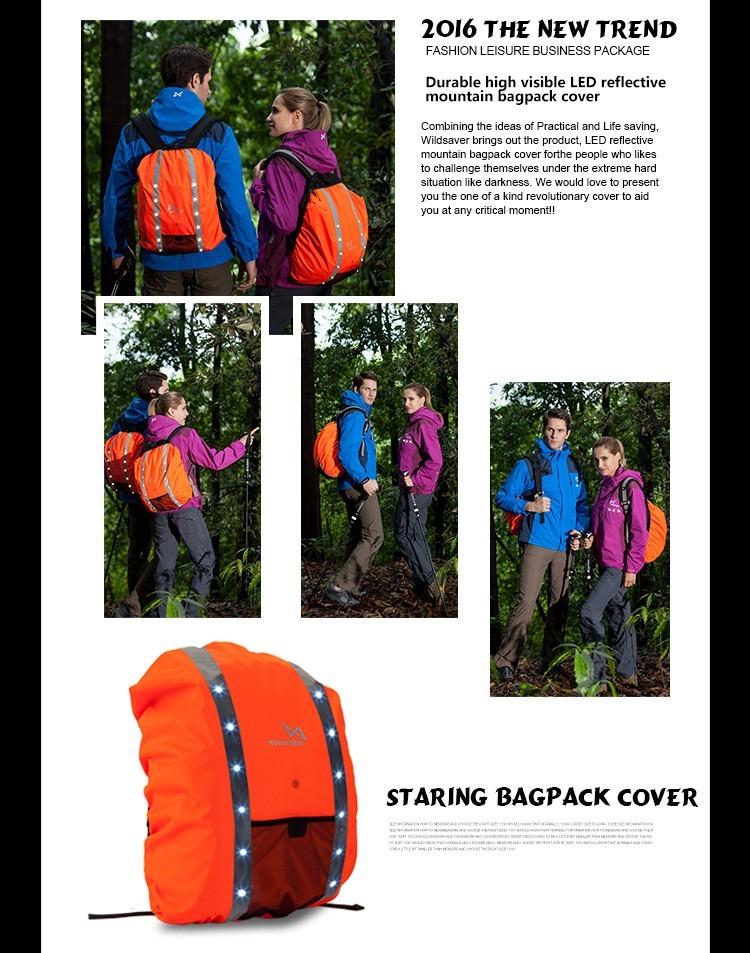 Flashing Hot Selling Wholesale School Backpack Rain Cover
