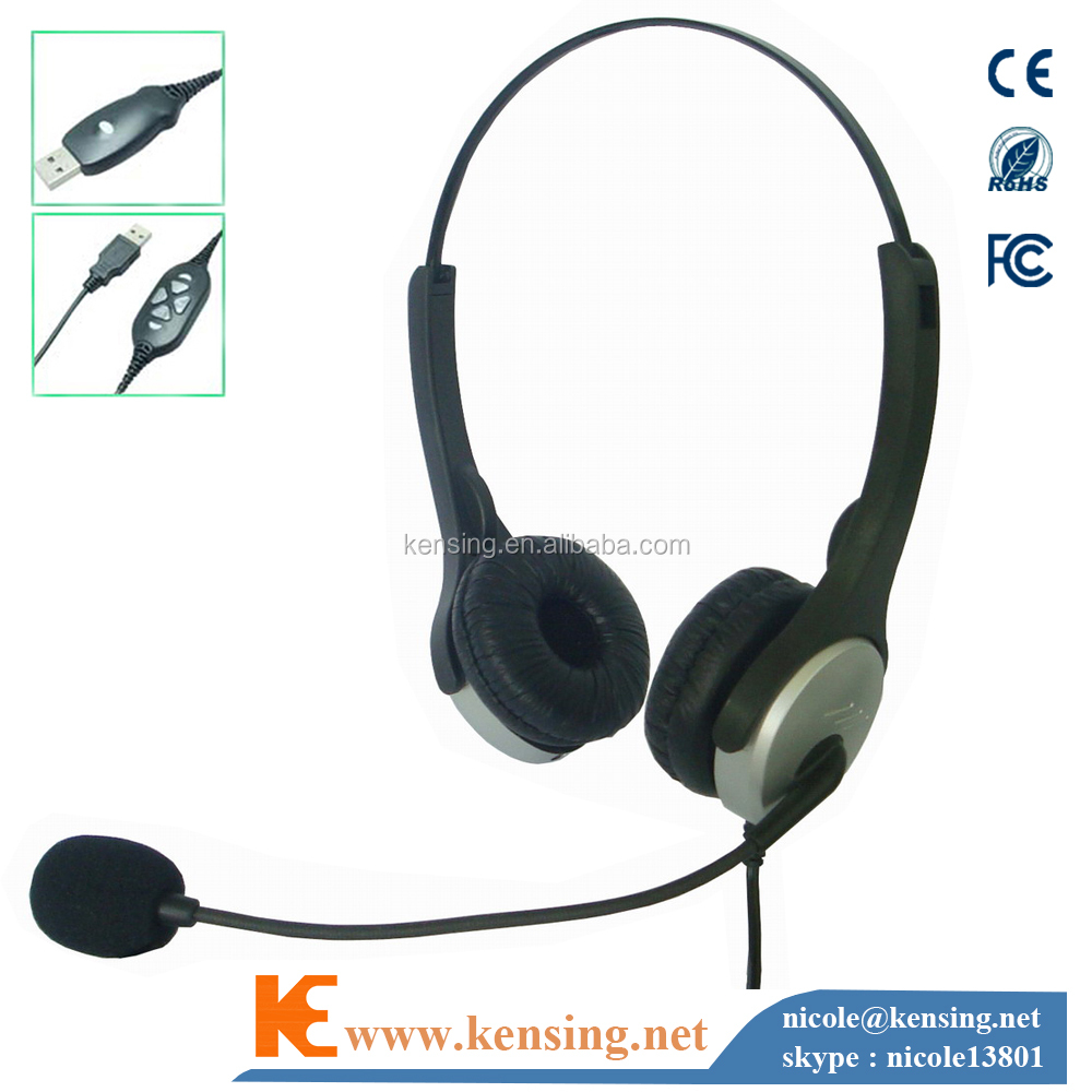 USB headset for computer laptop or PS 3 game plawyer Chinese manufacture