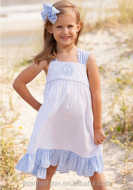 kids peasant dress sweet family beach bow back children fashion dress