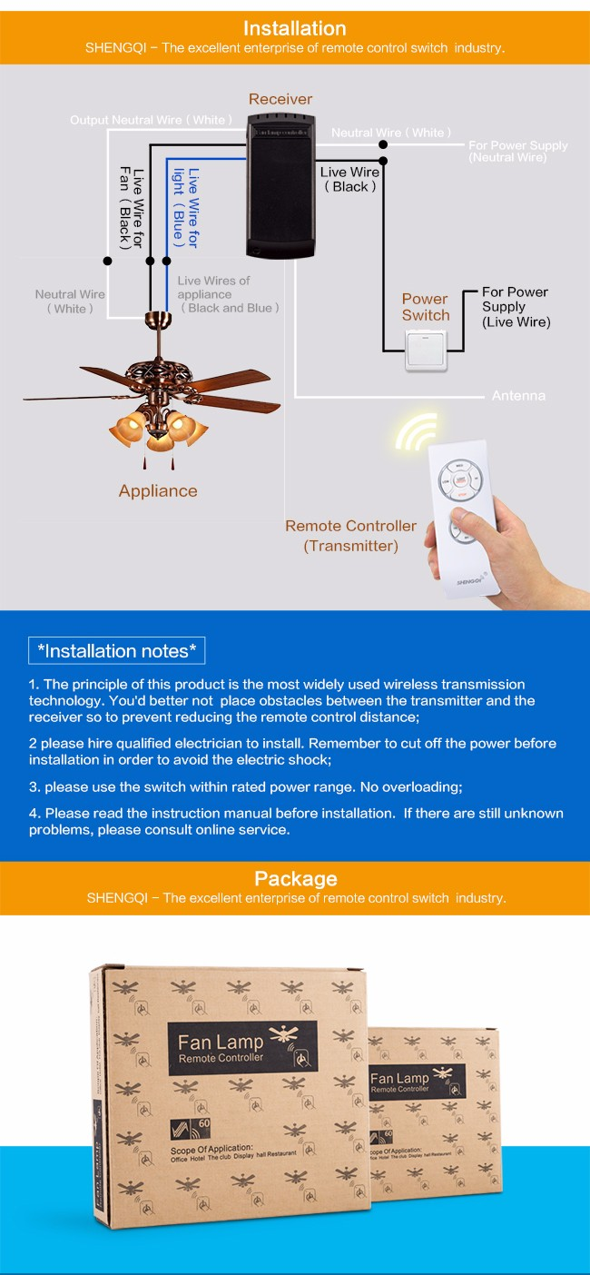 Wholesale Price Wiring Ceiling Fan Switch Speed And Light Control A Multifunction China Factory Manufacture