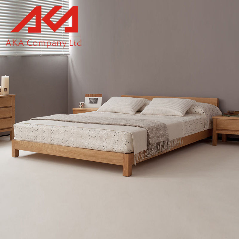 Contemporary Bed Room Furniture Wooden Queen Size Double Bed